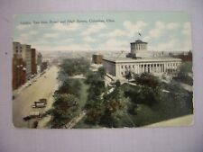 VINTAGE POSTCARD LOOKING EAST FROM BROAD & HIGH STS. IN COLUMBUS, OHIO 1910