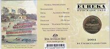 2004 Australia 150th Eureka Stockade $1 Coin - Eureka 'E' Mintmark
