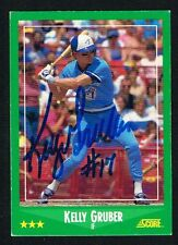 Kelly Gruber #422 signed autograph auto 1988 Score Baseball Trading Card
