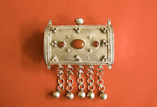 """Judaica Sterling Silver and Agate stone Box-marked """"925"""" (#302)"""
