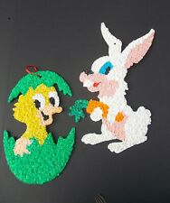 Easter Rabbit Chick Melted Popcorn Easter Egg Hatiching Chick Traditional Colors