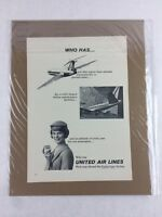 United Air Lines Vintage Art Print Collectible Advertisement 8.25 x 11.5