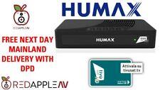Humax HD Satellite Receiver Activated Italian TIVUSAT Card 60cm Dish Kit