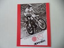 advertising Pubblicità 1974 ALPINESTARS e MOTO CZ CROSS