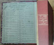 Les Armées Françaises dans la Grande Guerre, Tome I, Volume I (les cartes)