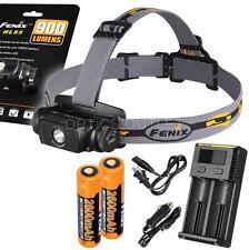Fenix HL55 900 Lumen Headlamp w/ 2x Fenix Batteries & 2-Channel Charger (AC/Car)