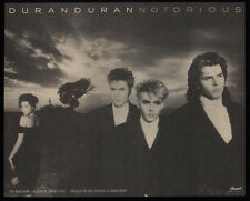1986 DURAN DURAN - NOTORIOUS Album Release - SIMON LE BON - VINTAGE AD