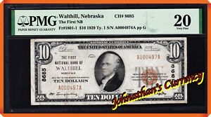 JC&C - Fr.1801-1 1929 $10 First NB of Walthill , Nebraska #8685 - VF 25 by PMG