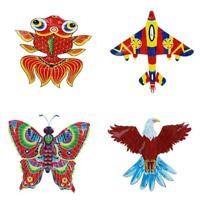 NEW Kites For Kids Children Lovely Cartoon Red Kites Without Flying Line
