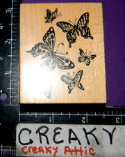 PSX BUTTERFLIES FLYING RUBBER STAMPS RETIRED F-1376