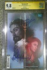 Aquaman #42__CGC 9.8 SS__Signed by Jason Momoa and Amber Heard