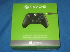 Microsoft 1537 Xbox One Wireless Controller + Cable for Windows, Black, New!