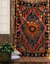 Sun Moon Stars Planet Tapestry Bohemian Indian Hippie Dorm Decor Wall Hanging