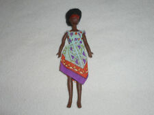 ROCK FLOWERS FASHION DOLL ROSEMARY FIGURE  VINTAGE 1970S MATTEL AFRICAN GLASSES