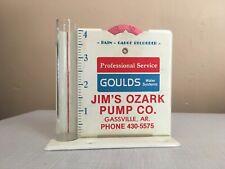 Vtg Water pump Rain Gauge Fertilizer Seeds Farm Gould Jim Ozark Gassville Ak