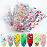 10Pcs Flower Butterfly Nail Foil Sticker Transfer Colors Manicure Nail Art Decor