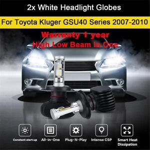 For Toyota Kluger GSU40 Series 2007-2010 Headlight Globes High Low Beam LED bulb