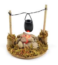Miniature Fairy Garden Light Up Fire Pit w Cooking Pot/Dollhouse MI 50803