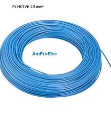 Fil électrique souple HO7-VK 2,5 mm² 10 mètres 5 Couleurs différentes