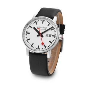 MONDAINE MSE.40210.LB Swiss Railways Evo2 40mm Leather Strap Men's Watch