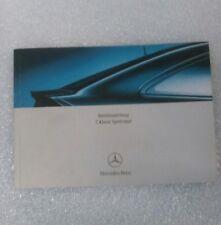 Betriebsanleitung Bedienungsanleitung Mercedes CL203 C-Klasse Sportcoupe