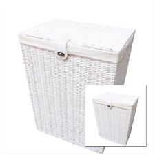 Laundry Basket Medium White Resin Box With lid-Lock