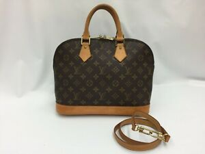 Auth Louis Vuitton  Vintage Monogram Alma Hand Bag with strap 0K110090n""