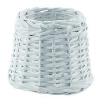 Eglo 1+1 Vintage Rattan wood Lamp Shade E27/E14 - Vintage Bast White