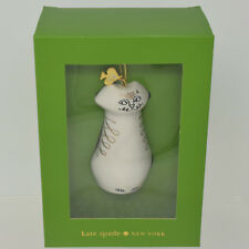 Kate Spade Lenox Woodland Park Cat Ornament 3.5 inches New in Box Christmas