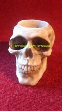 NEW DESIGN RUBBER LATEX MOULD MOULDS MOLD SMALL GOTHIC SKULL T-LIGHT CANDLE TLA