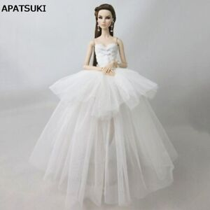 """Pure White Fashion Clothes For 11.5"""" Doll Dress Multi-layer 1/6 Wedding Dresses"""