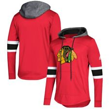 CHICAGO BLACKHAWKS ADIDAS JERSEY HOODIE HOODED SWEATSHIRT PLATINUM MEDIUM $100 M