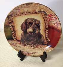 """Dachshunds Dog Danbury Mint Collector Plate Sweet Dreams Christopher Nick 8"""""""