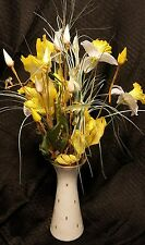"Forest Bavaria Germany Vase white & gold 8 3/4"""