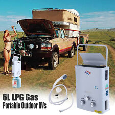 Outdoor Portable 6L  LPG Propane Gas Tankless Instant Hot Water Heater Boiler CE
