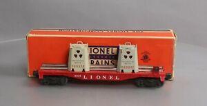 Lionel 6805 Vintage O Radioactive Atomic Disposal Flatcar EX/Box