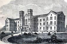 St. Luke's Hospital Lukes 1856 5th Fifth Avenue 55th 54th Street NYC Art Print
