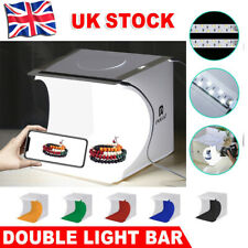 Photo Studio Lighting Box Portable Photography Backdrop LED Light Room Tent UK