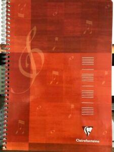 Cahier de musique et chant reliure piqûre 21x29,7cm 24p musique+ 24p séyès 90 gr