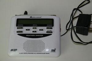 Midland WR-120EZ Emergency Weather Alert Radio with Alarm Clock w/ AC Adapter