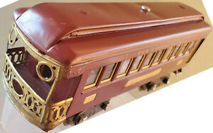 Lionel 338 Observation Passenger Car Restored Red With Cream Inserts 1930- 1932