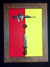 1st Battalion The Royal Anglian Regiment Presentation Frame with L85A2