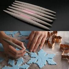 6Pcs Fondant Cake Soft Tip Shapers Flower Modelling Decorating Craft Clay Tool J