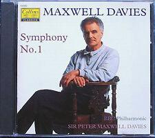 Peter MAXWELL DAVIES b.1934 Symphony No.1 COLLINS CD Sinfonie BBC Philharmonic