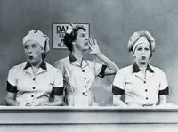 I Love Lucy Lucille Ball Vivian Vance Chocolate Factory  11x14 Photo