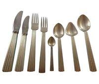 Bernadotte by Georg Jensen Sterling Silver Flatware Set For 8 Service 66 Pieces