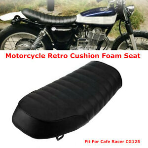 Motorcycle Soft Sponge Seat Racing Style Bike Comfortable For Cafe Racer CG125