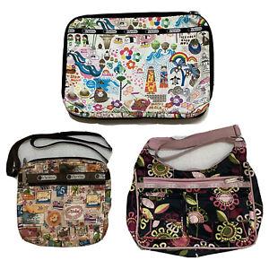 LeSportsac Hawaii Exclusive Bundle! Computer Pouch Crossbody Purse Messenger Bag