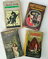 Mystery Thrillers LOT of 4 VINTAGE paperback Agatha Christie, L.Charteris & more