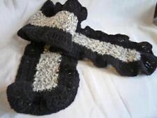 sciarpe da donna neri misto lana